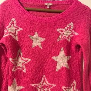 Juicy couture Girls Pink fuzzy sweater size large